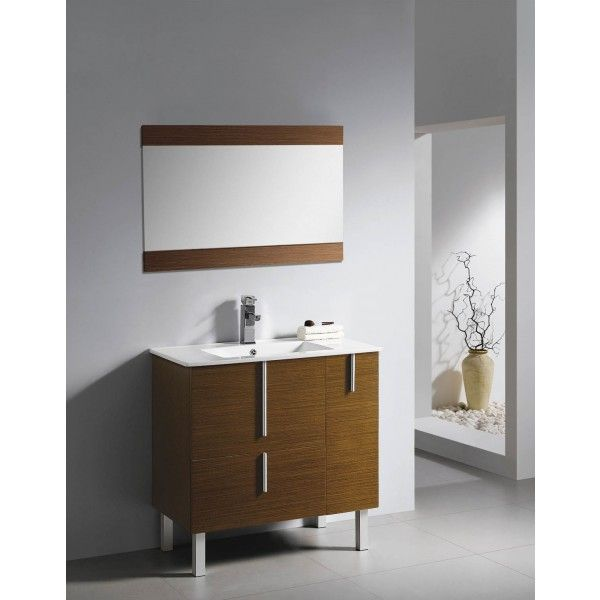 Moderna Standing With Drawers | Best Value Bathroom Furniture in Ireland.  Contemporary standing vanity unit with soft closing drawers.  Perfect for a medium to large sized bathroom.      Measurements  Description:  Dimension (MM): Main Cabinet820*470*840 Mirror850*20*600