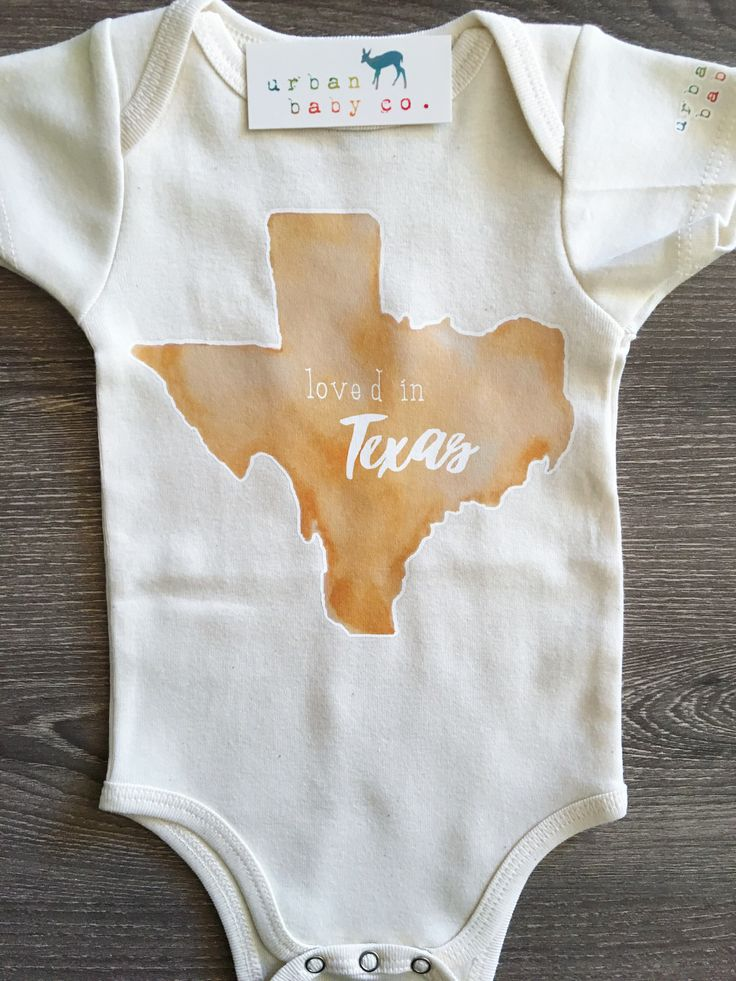 Loved in Texas Baby Boy Girl Uni Gender Neutral