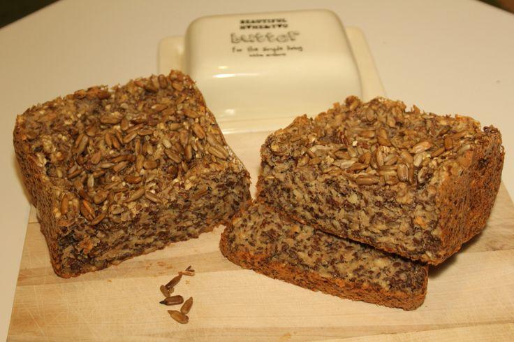 Chleb z siemienia lnianego / bezglutenowy/Glutenfreebread przekonseczki@blogspot.com