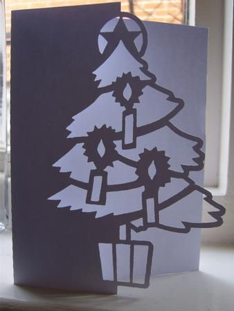 OVER THE EDGE CHRISTMAS TREE 2 SVG on Craftsuprint designed by Clive Couter - svg version of my gsd Over the Edge Christmas Tree Card with optional shaped backing plate - Now available for download!
