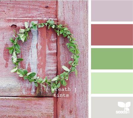 wreath tints: Idea, Bathroom Colors, Bedroom Colors, Colors Palettes, Colour Palettes, Seeds Color Palettes, Wreaths, Wreath Tints