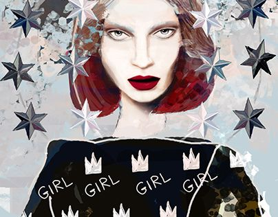 """Check out new work on my @Behance portfolio: """"Girl the Quenn"""" http://be.net/gallery/45769457/Girl-the-Quenn"""