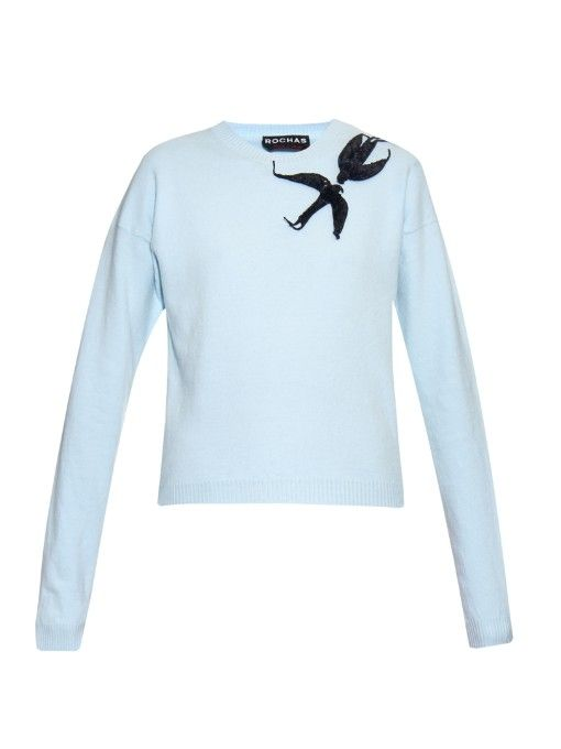 Rochas Embroidered wool-blend sweater
