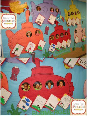 SUBMARINOS!!!!!! Ocean Themed Bulletin Board