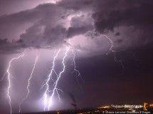 Impact sous un orage lorrain depuis Pont-à-Mousson (54) - 06/07/2017 22:00 - Thibaut BOUDRIQUE