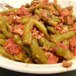 Sweet Italian Green Beans Recipe - Made for Thanksgiving last year and it was immediately requested for every year to follow.