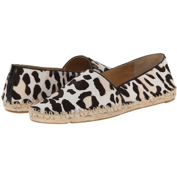 Belle by Sigerson Morrison Magay (Black/White Pony) Women's Shoes (880 SEK) ❤ liked on Polyvore featuring shoes, multi, leopard print slip on shoes, leopard espadrilles, leopard slip-on shoes, slip-on shoes and leopard slip on shoes