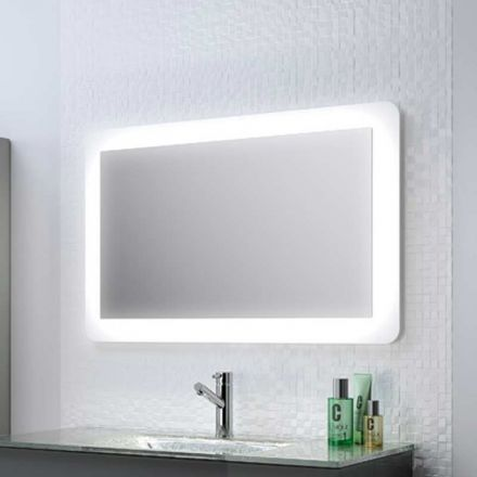 miroir lumineux pour salle de bain syst me d 39 clairage par lampes led branchement simple sur. Black Bedroom Furniture Sets. Home Design Ideas