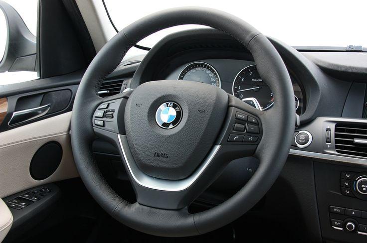 2011 Bmw X3 First Drive Steering Wheel Black Grey Metallic Leather