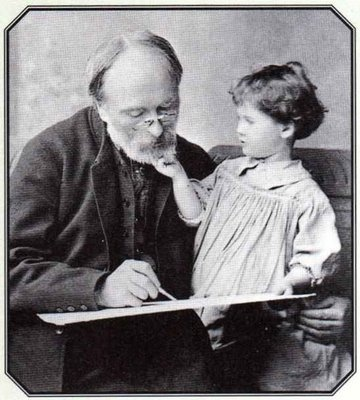 Burne Jones and his Granddaughter Angela (Thirkell), 1893