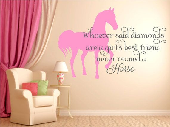 horse wall decal horse decal horse decor equine decor equine wall decal horse quote wall decal girls horse theme decal wd0137 - Horse Bedroom Ideas
