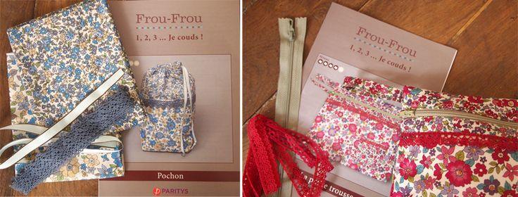 Les tissus fleuris Frou-Frou   Mercerie Créative - Couture Facile I Paritys
