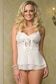 Jeweled Butterfly Babydoll Set by Leg AvenueBabydoll Sets, 2Pc Butterflies, Babydolls, Bejeweled Babydoll, Bridal Lingerie, Baby Dolls, Jewels, Embroidered Butterflies, Butterflies Babydoll