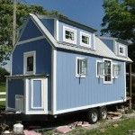 used tiny homes on wheels for sale with its unique design and attractive roof