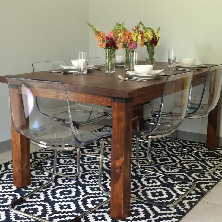 Coleman catering tasting room using reclaimed wood for our rustic table ikea tobias chair - Ikea rustic dining table ...