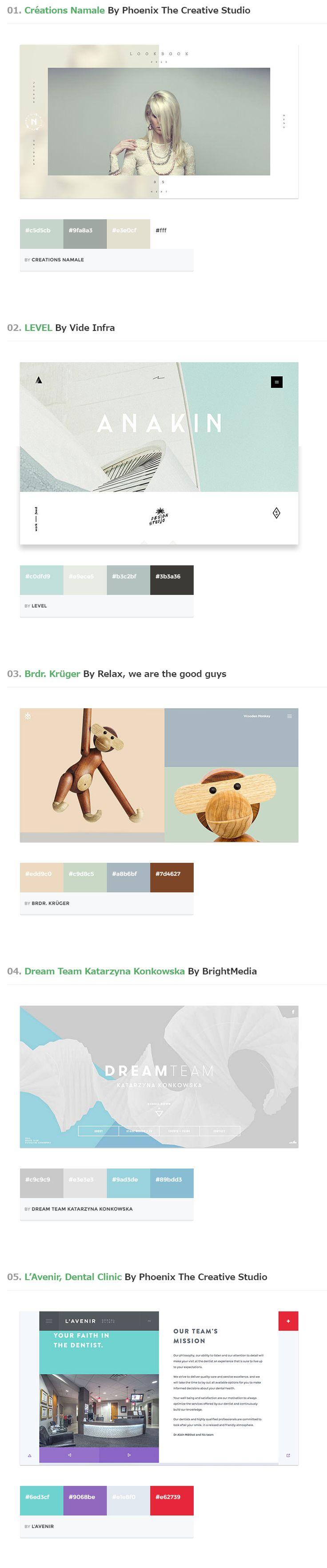 2015年人気トレンド色を学ぶ!Webサイト向け配色カラーパレット20個まとめ                                                                                                                                                                                 もっと見る