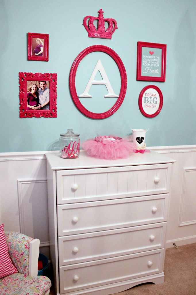 Pink Gallery Wall - #nursery #gallerywall: Pink Accent