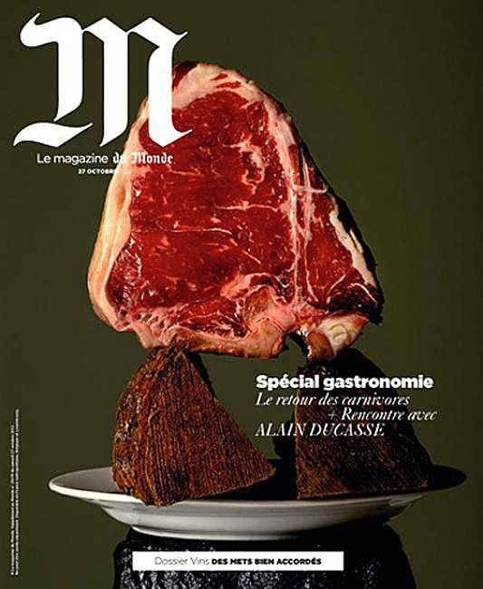 M (France) meat food magazine cover
