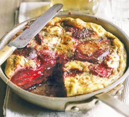Beetroot, dill & feta frittata | the breakfast club | Pinterest