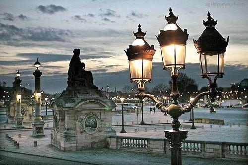 street lanterns...