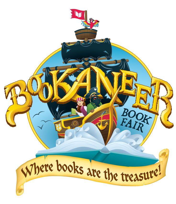 The official Scholastic Book Fairs fall 2016 Bookaneer Book Fair logo.