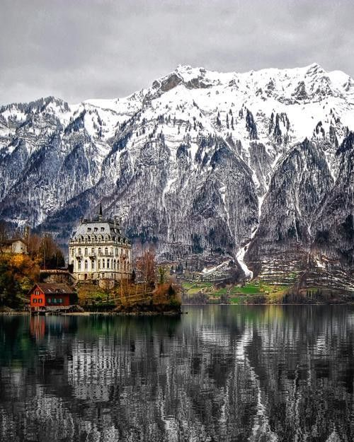 Lake of Brienz, Switzerland, winter.
