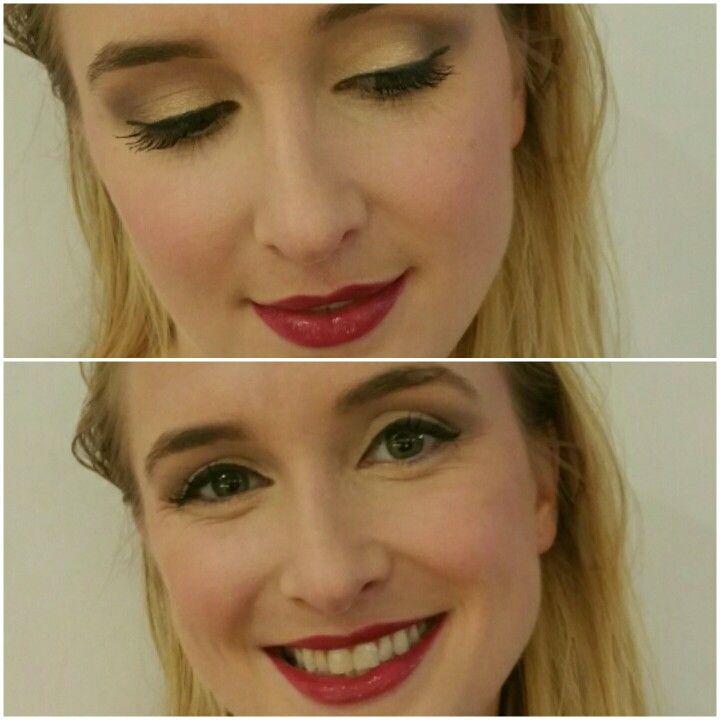 Smokey eye and cherry lip #makeupbyalicia