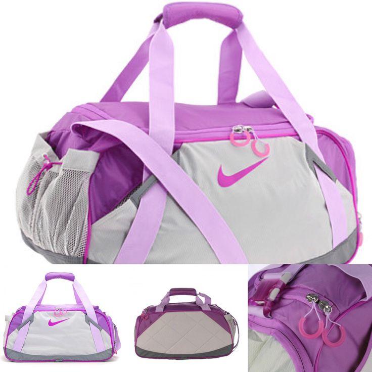Nike Varsity Girl 2.0 Medium Duffel Bag Gray with Purple BA3155-515  https://www.pinterest.com/pin/24558760446811359/  https://www.popscreen.com/prod/MTU0OTc4NDA0/Nike-Women-Varsity-Girl-20-M-Gym-Duffle-Bag-Gray-w-Purple