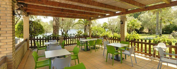 Pool bar dining area.