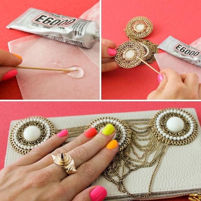 4 Brilliant Ways to Embellish a Clutch via Brit + Co.
