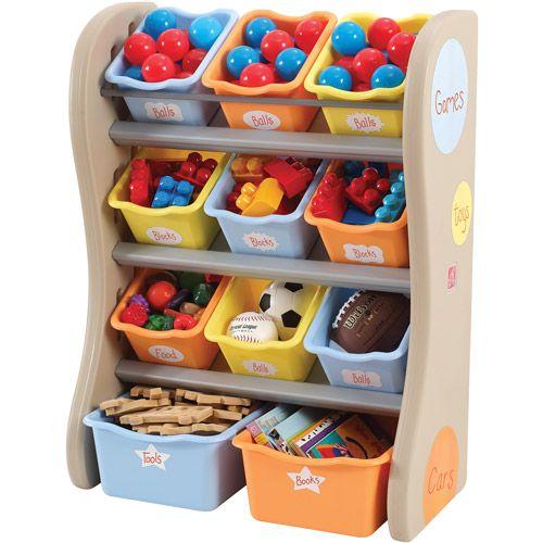 Step2 Storage Bin Organizer - Walmart.com : No more dumping the entire toy box to find one truck!