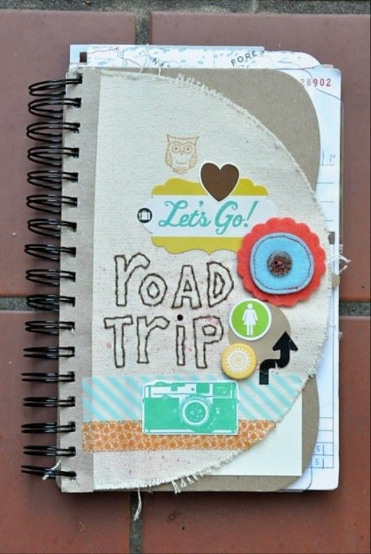 different shape cover and pages inspiration :: Amy Tangerine Road Trip Journal