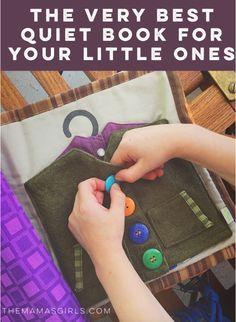Um excelente livro em  em tecido e com um sistema de páginas inovador! The Very best quiet book for your little ones