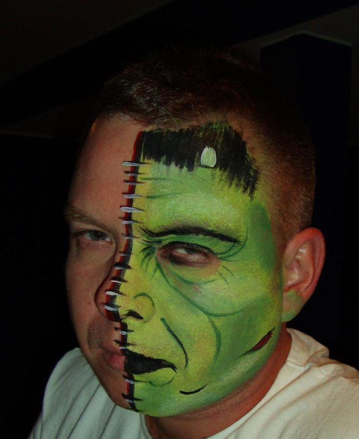 best 25 frankenstein face paint ideas on pinterest. Black Bedroom Furniture Sets. Home Design Ideas
