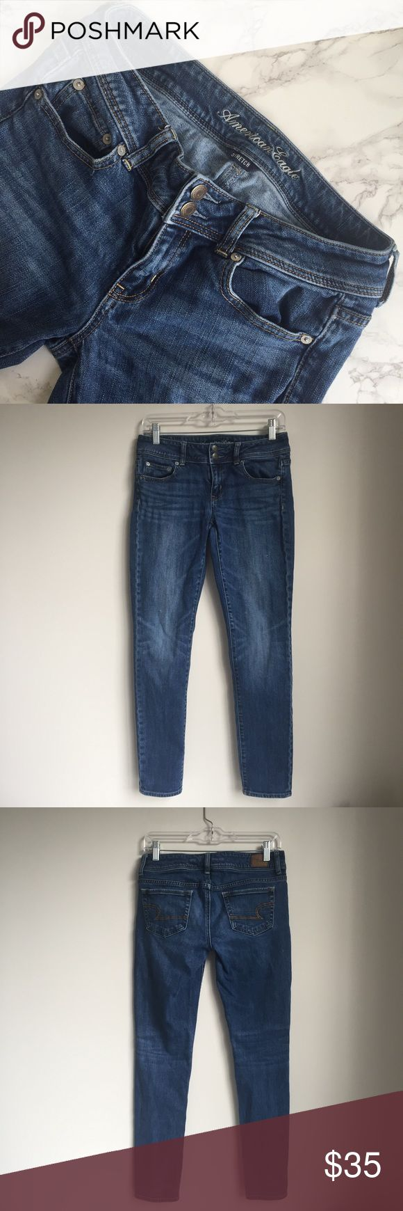AMERICAN EAGLE Skinny Jeans American Eagle Outfitters skinny jeans. Good condition. Inseam is about 29 inches. 99% cotton, 1% spandex. American Eagle Outfitters Jeans Skinny