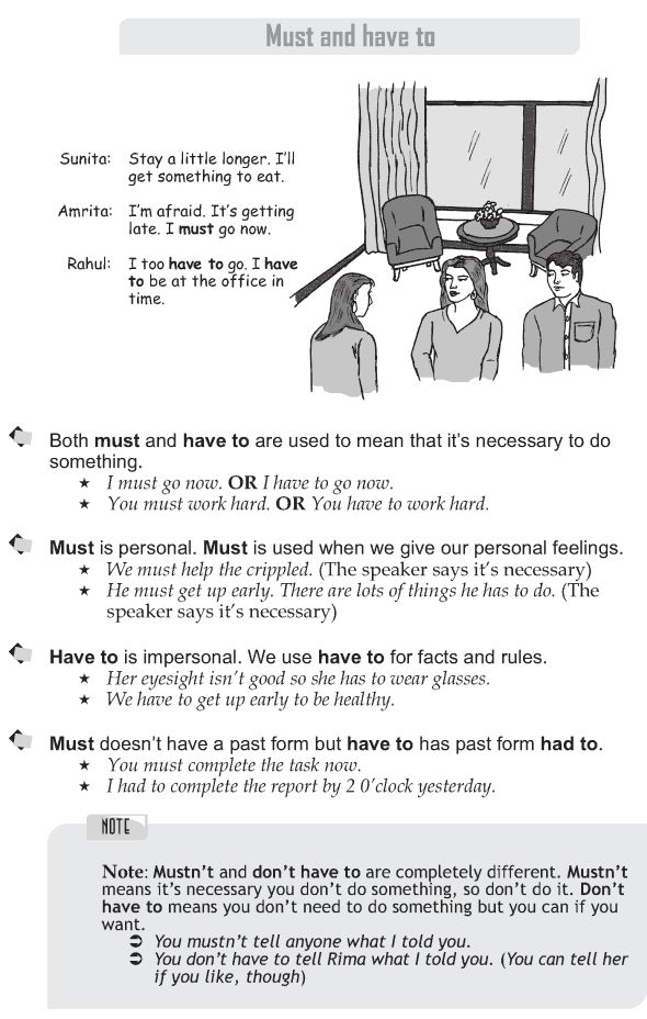 Grade 9 Grammar Lesson 24 Must and have to