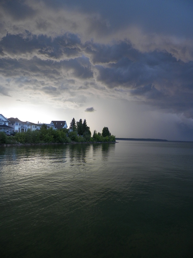 Cold Lake, Alberta - Thunderstorm blowing in July 18, 2012