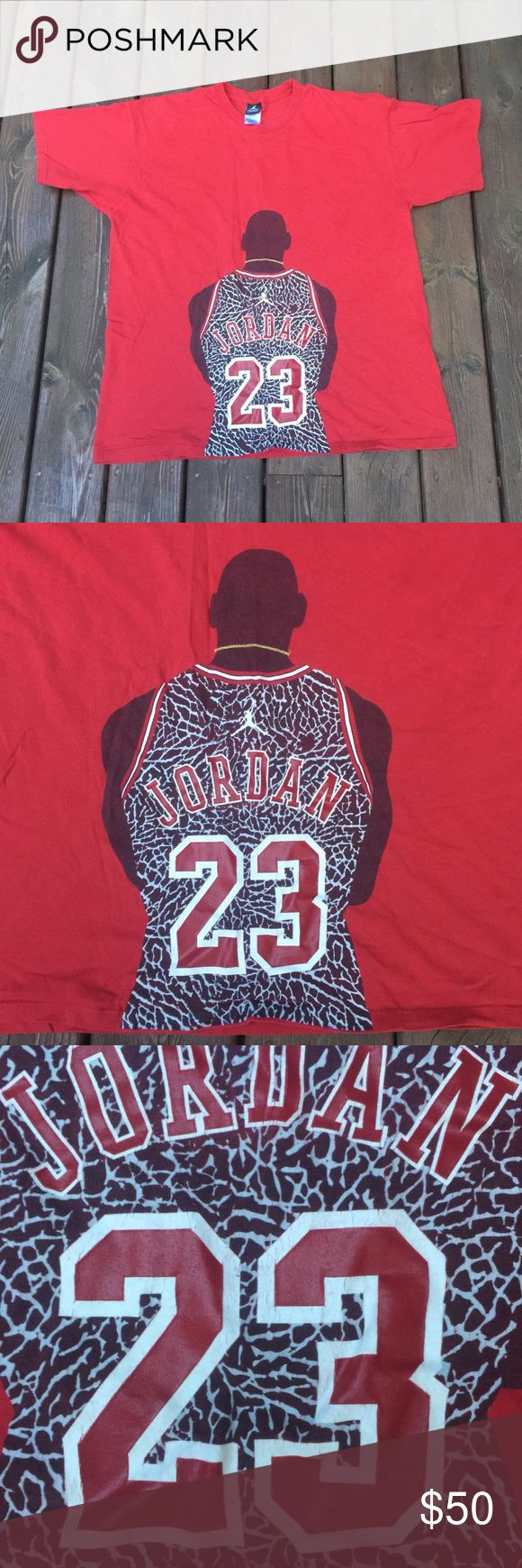 Vintage Air Jordan Michael Jordan T-Shirt Size XL Good condition. Paint is cracking and small hole in back (see pictures). Please ask any questions, thanks! Nike Shirts Tees - Short Sleeve