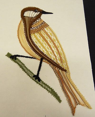 vogel in kant- lace bird