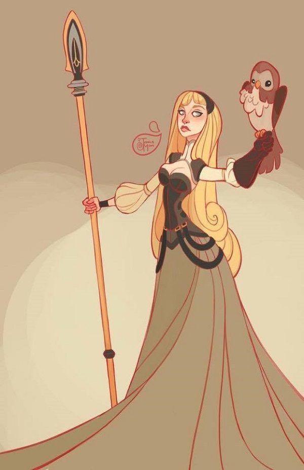 Princesas Disney con armas Aurora