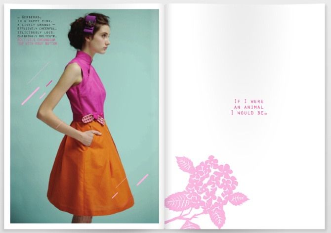 TongTong Spring 2010 - kuanth. Cheongsam top with belt, pockets, and pleated skirt.