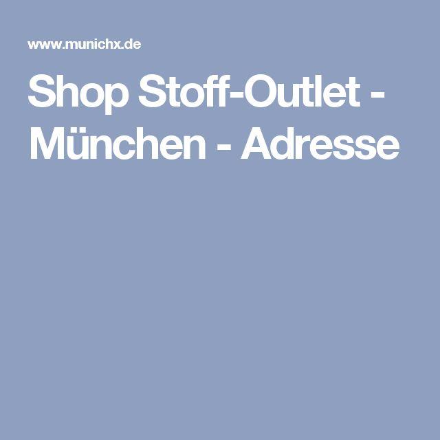 Shop Stoff-Outlet - München - Adresse