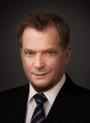 Government:This is the leader of Finland Sauli Niinistö. In Finland, the president can serve for 6 years. Unlike America, the president can be re elected any number of times. The prime minister's name is Juha Sipilä who is the head of government.