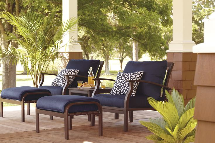 Customize Your Allen Roth Patio Set Savor Summer Pinterest Patio Furniture And Decks