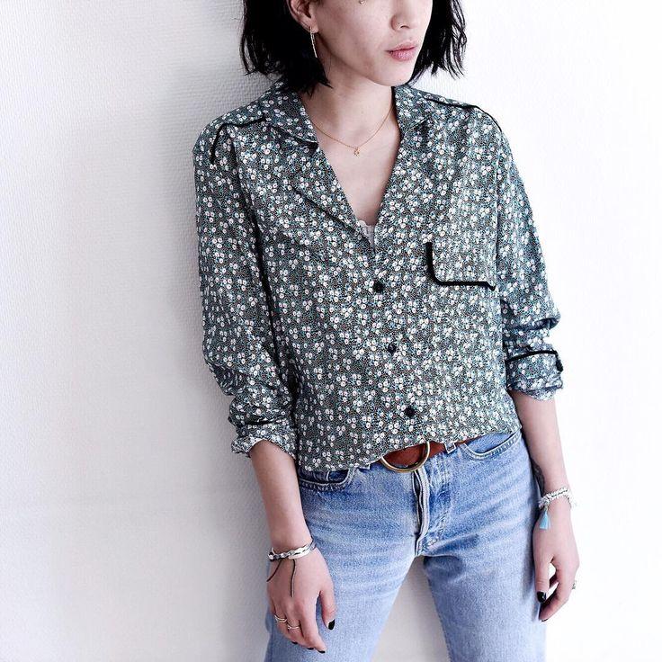 cozete <3 la jolie Leeloo qui porte notre chemise pierre. L'imprimé est unique, créé par cozete, il s'assortit à merveille avec quasiment tout ! @dressingleeloo