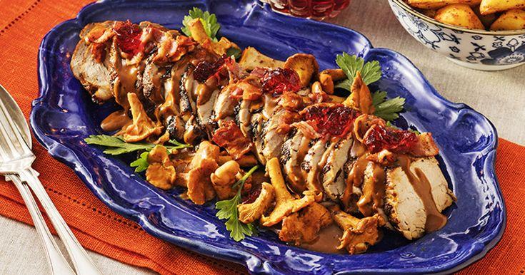 Recept fläskfilé med bacon och kantareller