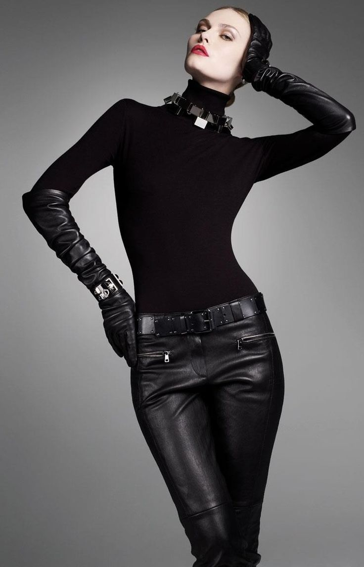 Black leather gloves brisbane - Leather Gloves And Leather Trouser