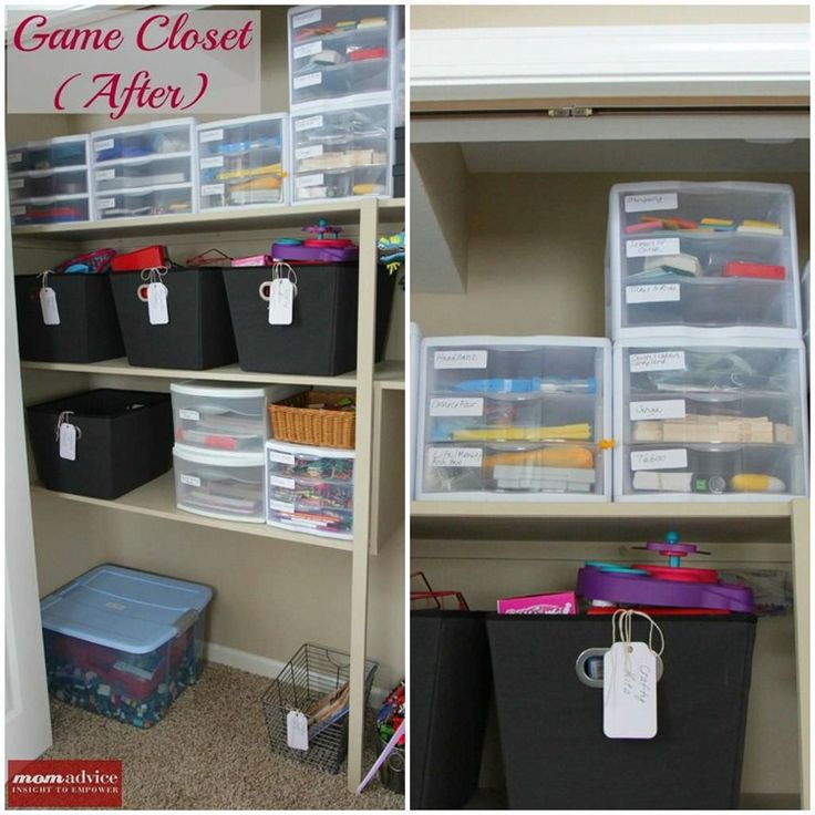 44 best images about for the home on pinterest how to Closet toy storage ideas
