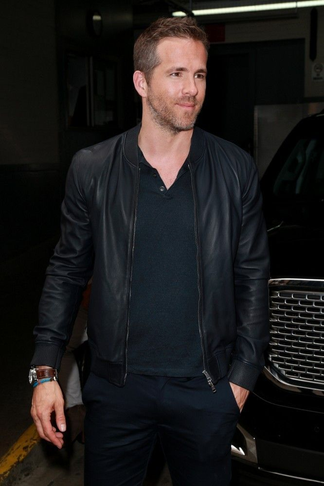 5 Leather Bomber Jackets Inspired by Ryan Reynolds Candid Style