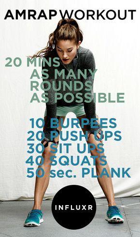 Assalam aleikum.Oggi parliamo di fitness e più precisamente di AMRAP. Che significa? E' l'abbrevazione di as many rounds as possible. Quindi in un tempo di 20 minuti bisogna cercare di fare più rip...
